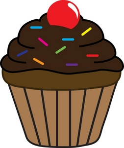 chocolate cupcakes clipart
