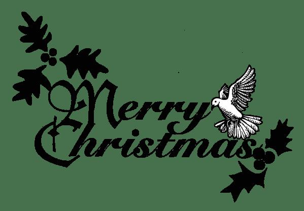 religious christmas clipart black