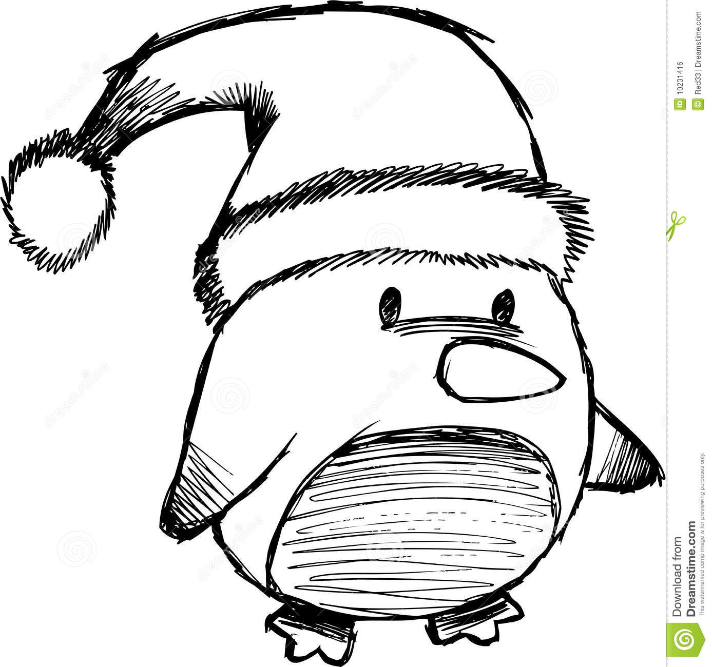 Christmas Penguin Coloring Pages Clipart Panda