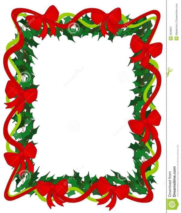 christmas green ribbon clipart