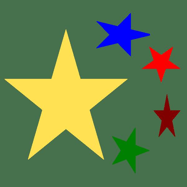 christmas star border clip art
