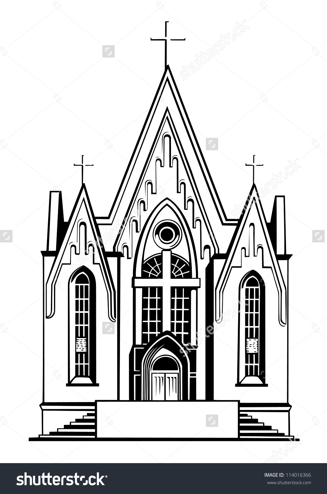 hight resolution of church clipart
