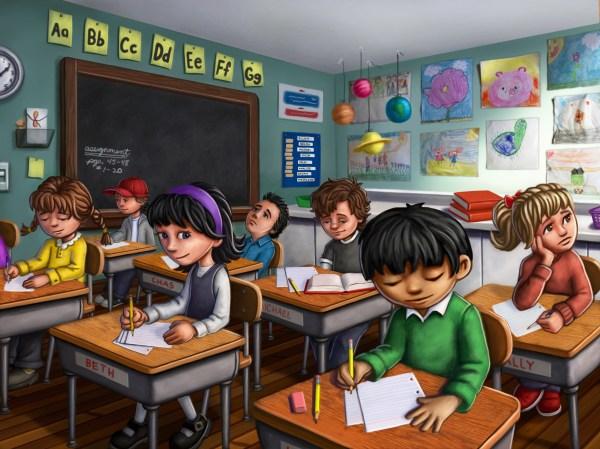 School Classroom Clip Art