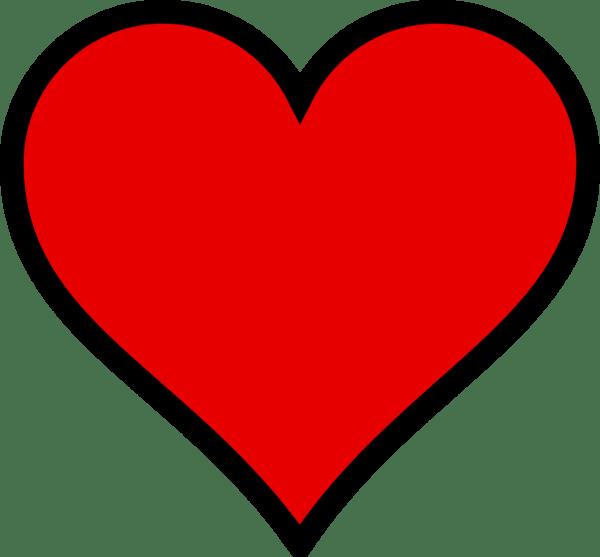 Black White Heart Clip Art