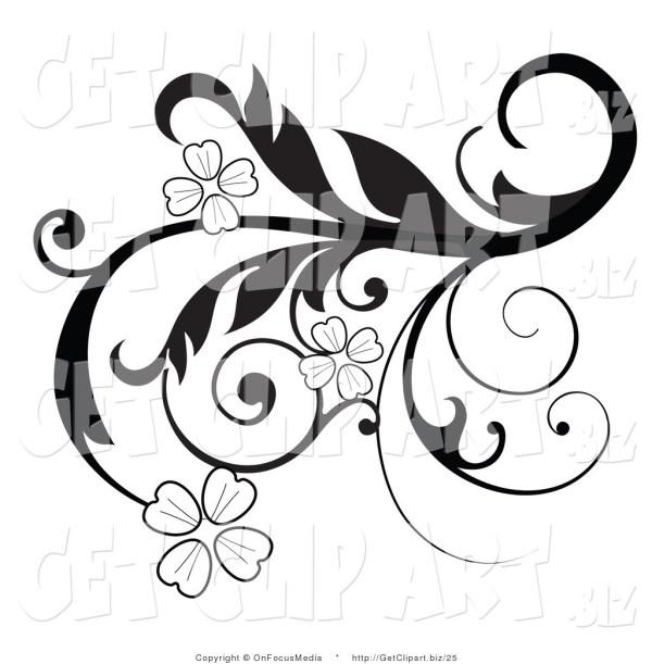 black scroll frame clip art clipart