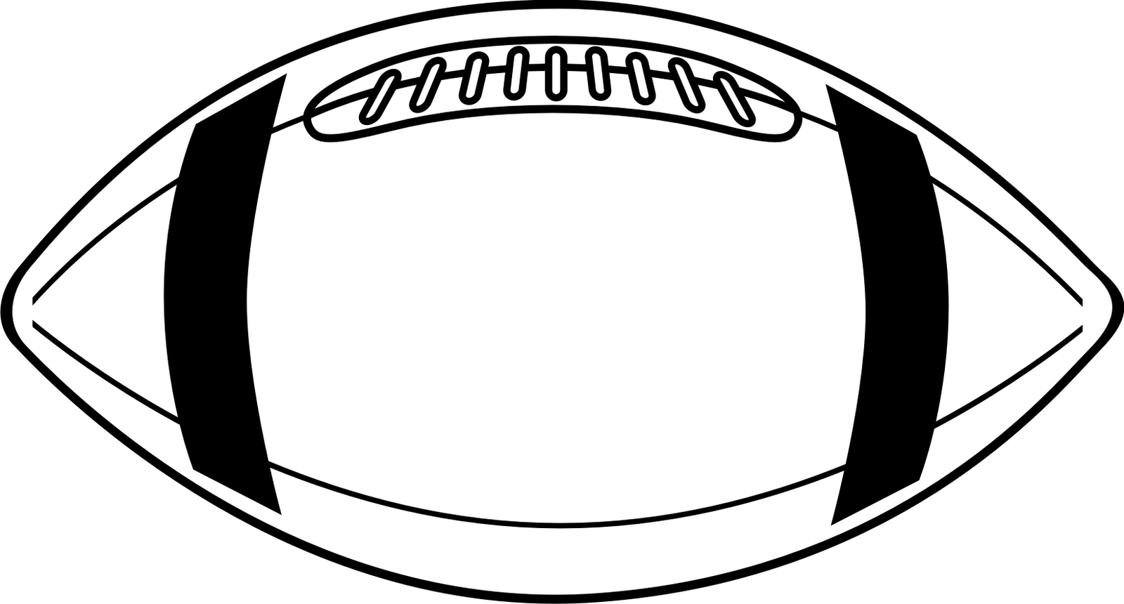 Football Clip Art Black And White Clipart Panda
