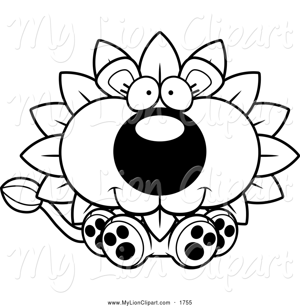 Clipart Spring Flowers Black And White