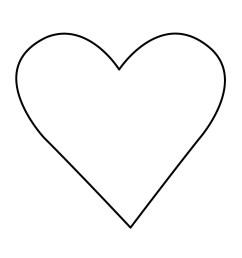 clipart heart [ 1275 x 1650 Pixel ]