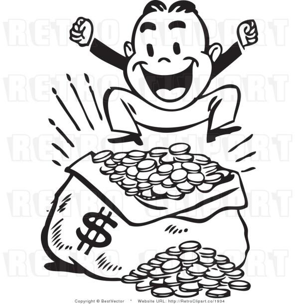 clipart money panda