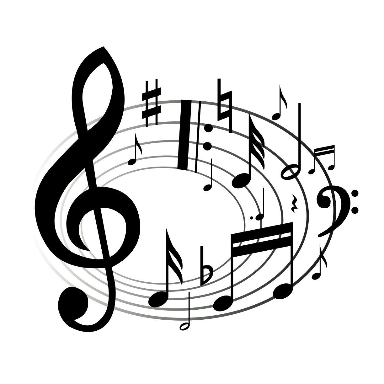 hight resolution of clipart music notes