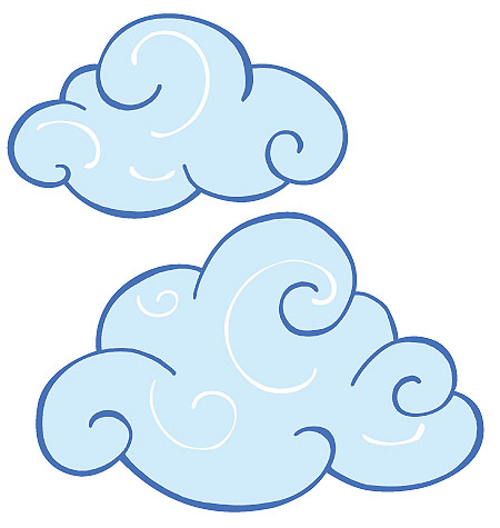 cloud clipart panda