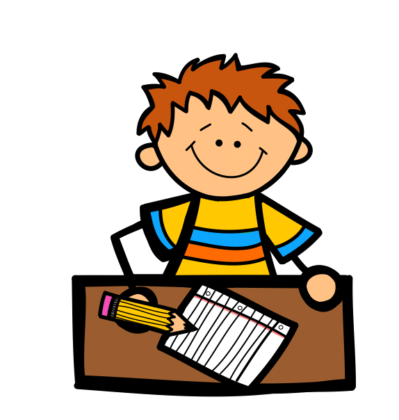 Boy And Girl Writing Clipart Clipart Panda Free