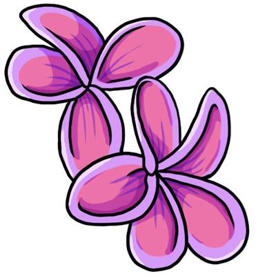 pink flower border clipart