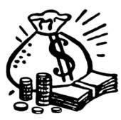 money clip art black and white