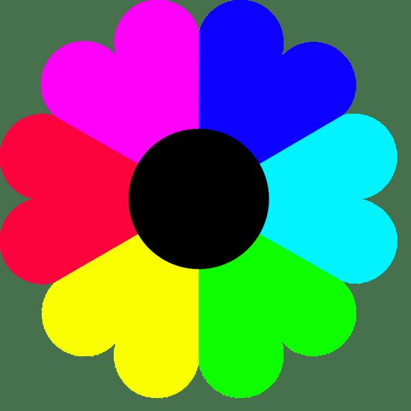 Color Flower Clip Art