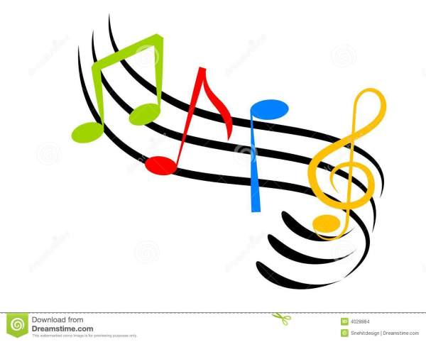 colorful musical notes wallpaper