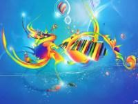 Colorful Music Notes Wallpaper | Clipart Panda - Free ...