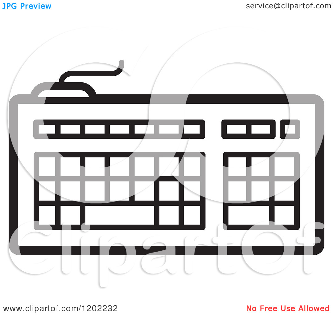 Computer Monitor And Keyboard Clip Art