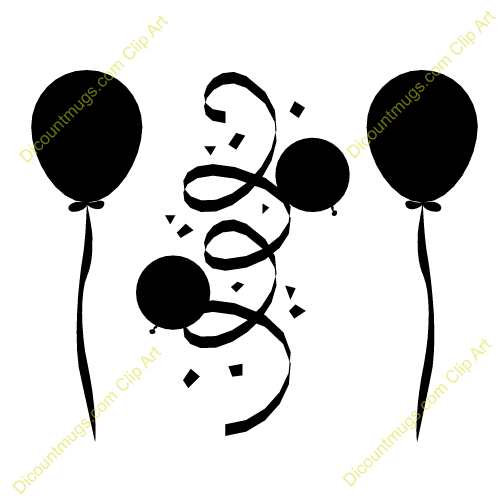 birthday balloons clipart black