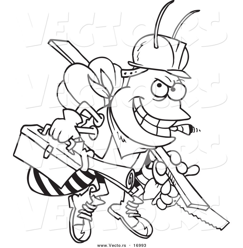 Construction Tools Coloring Pages Clipart Panda