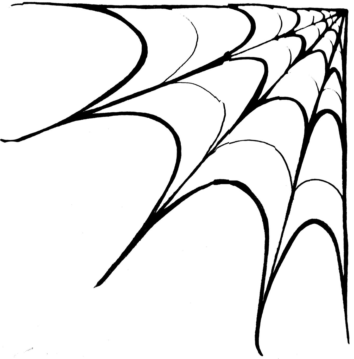 Corner Spider Web Clipart Clipart Panda