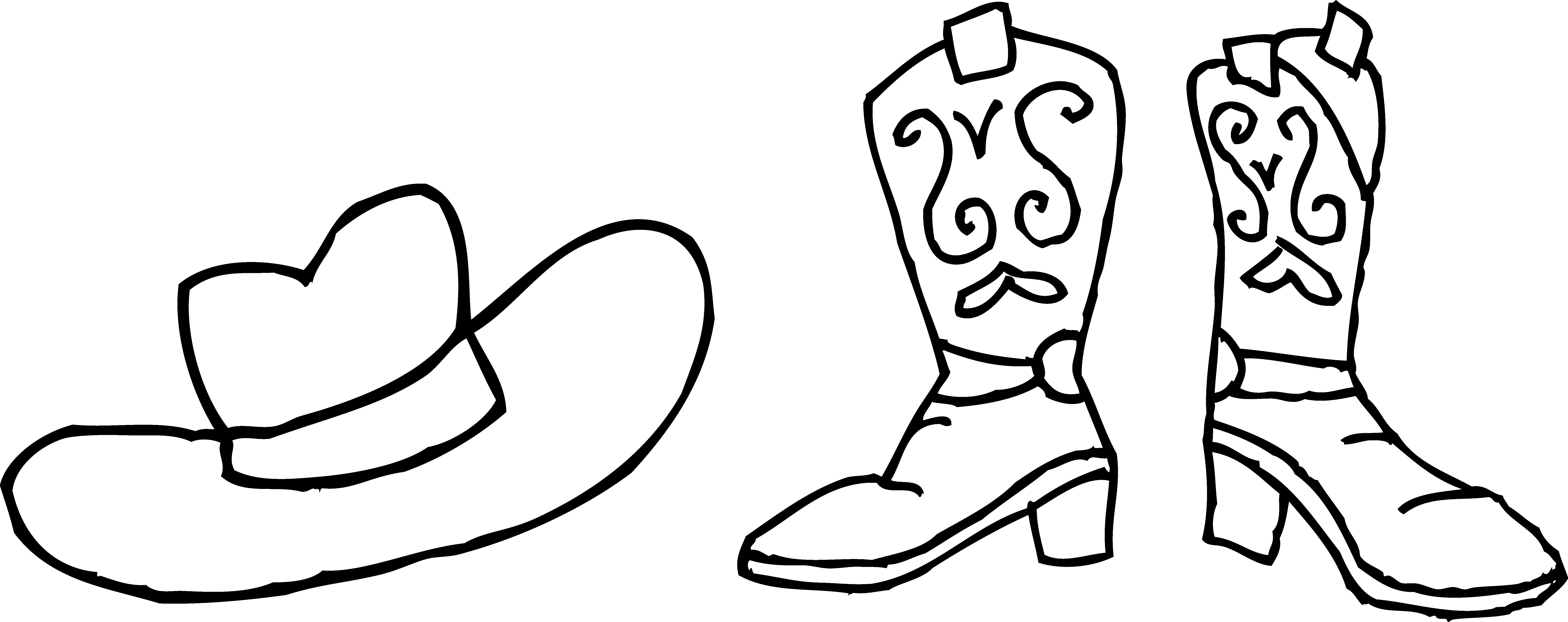 Cowboy Boots Clipart Black And White Clipart Panda