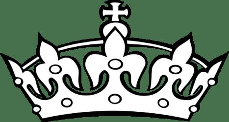 crown clipart clip king tiara advertisement outline vector
