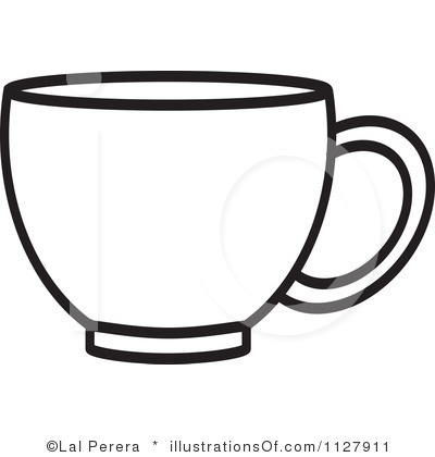 plastic cup clipart black and white