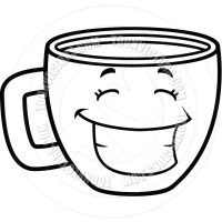 Cup Clipart Black And White | Clipart Panda - Free Clipart ...