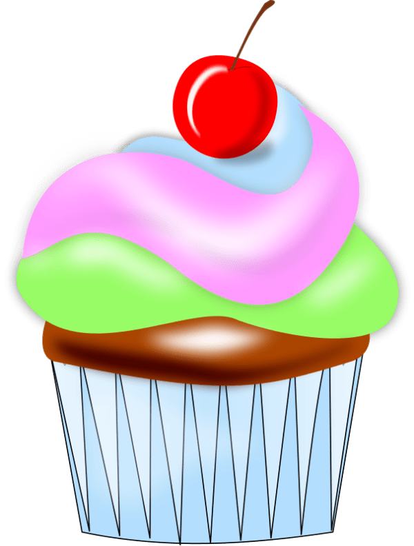 cupcake clip art outline clipart