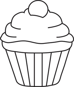 Cupcake Clipart Black And White Clipart Panda Free