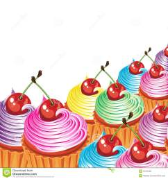 cupcakes clipart border [ 1300 x 1390 Pixel ]