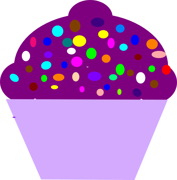 cupcakes with sprinkles clipart