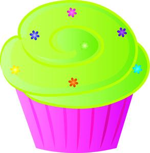 pink cupcakes with sprinkles