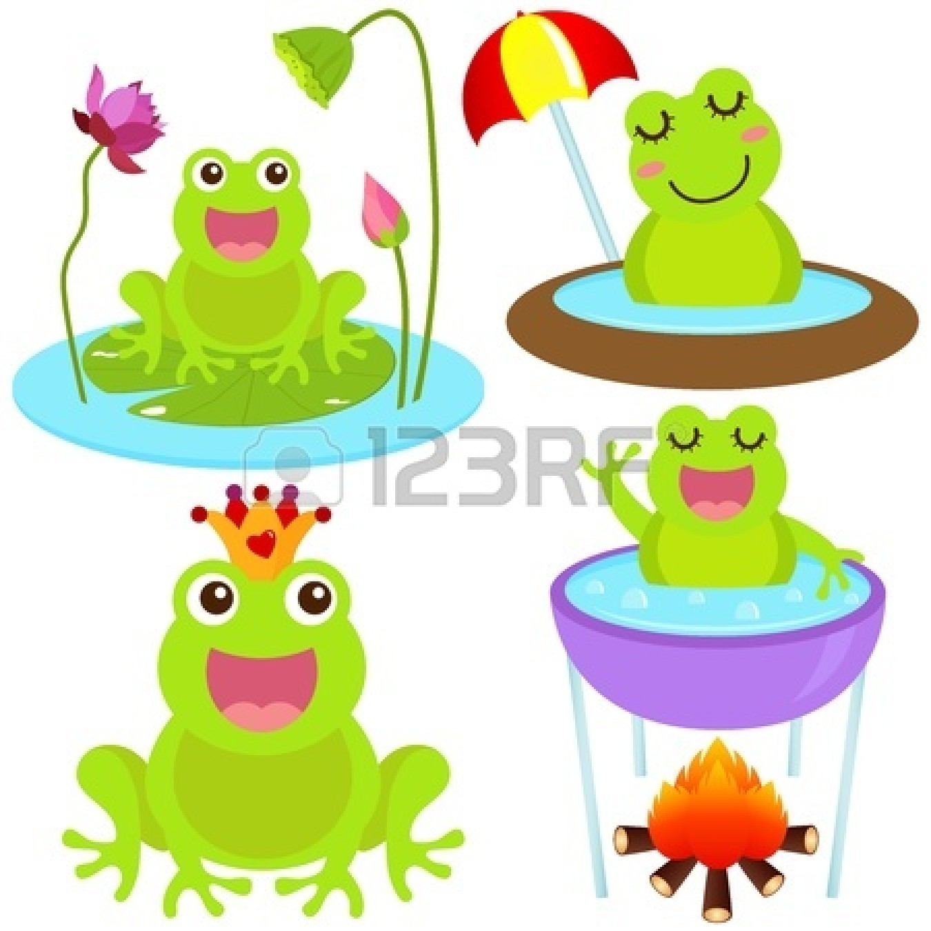 hight resolution of cute baby frog clipart