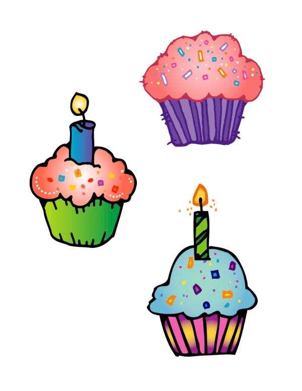 cute birthday cupcake clip art