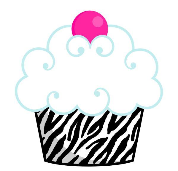 zebra cupcake clipart