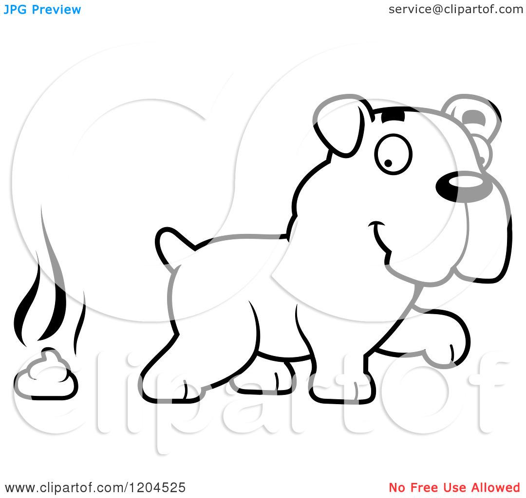 Cute Bulldog Drawing Clipart Panda