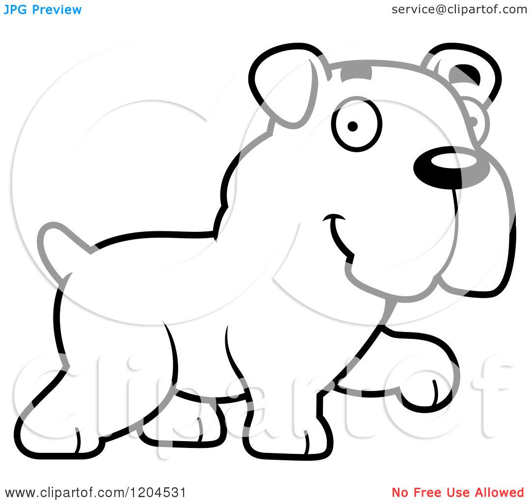 Cute Bulldog Clipart Clipart Panda