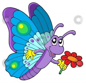 cute butterfly clipart