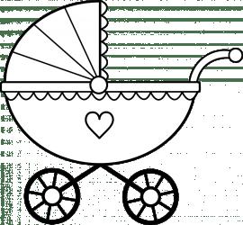 baby clipart dinosaur clipartpanda clip cute carriage line panda stroller shower pram buggy terms cliparts