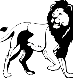 cute lion clipart black and white [ 1331 x 1156 Pixel ]