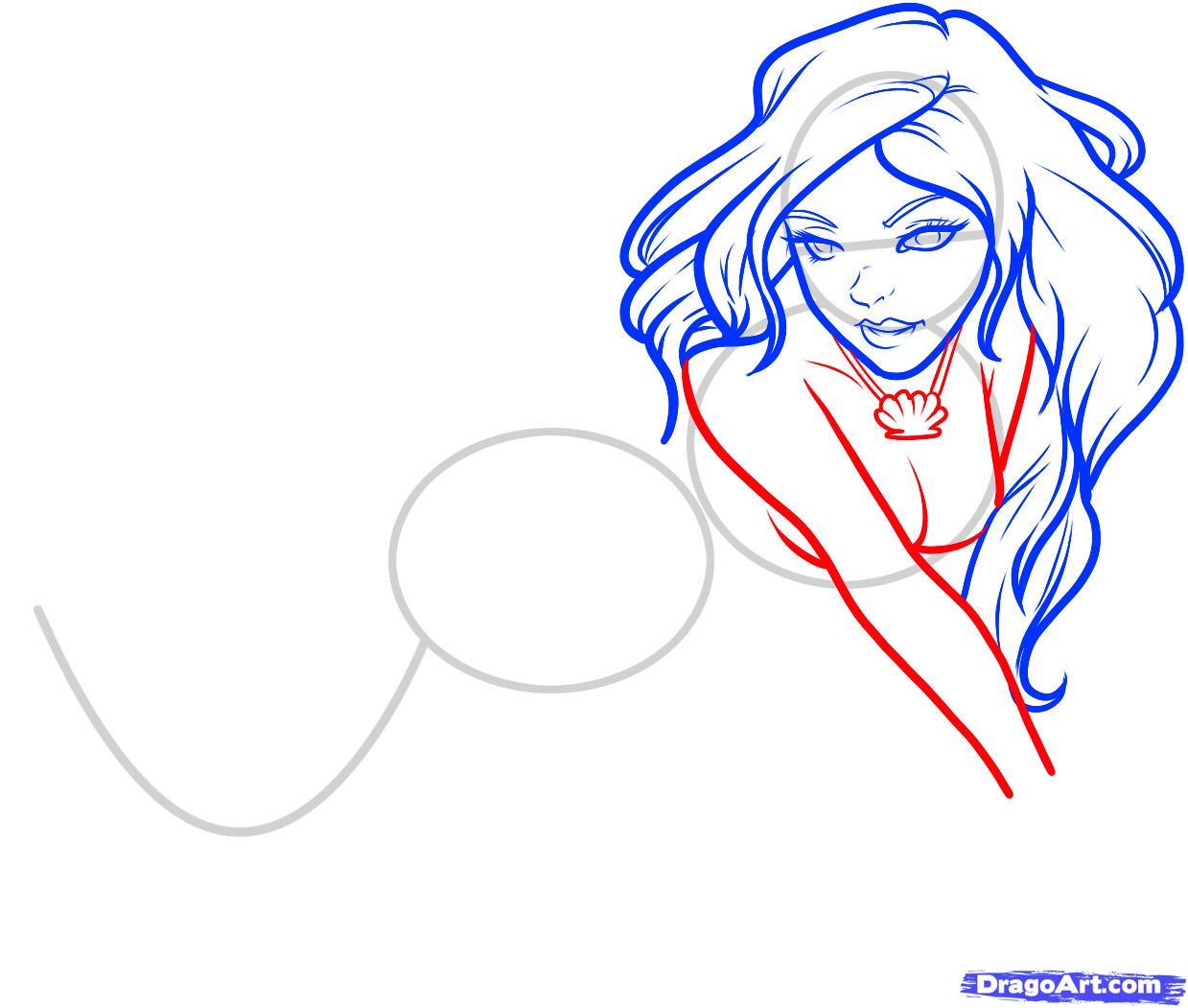 Cute Easy Mermaid Drawing Lianahee Liana Hee Cute Art Work