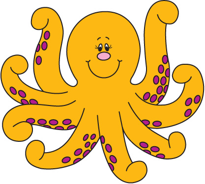cute baby octopus clipart