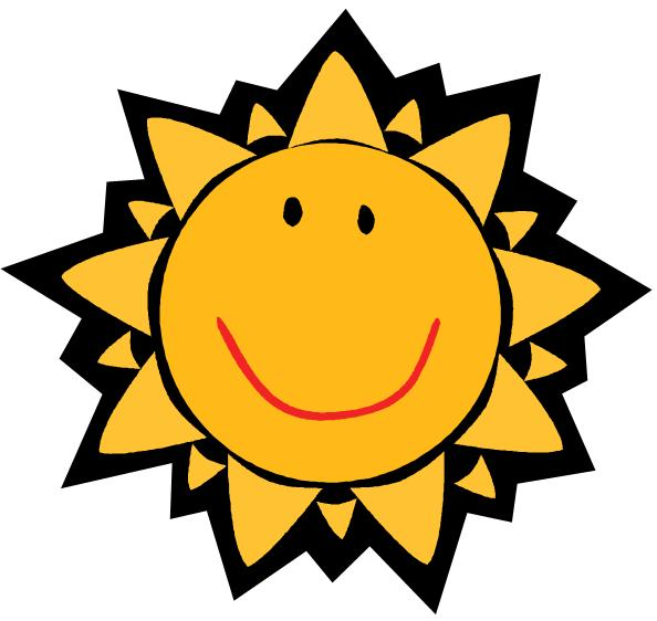 cute sun with sunglasses clipart