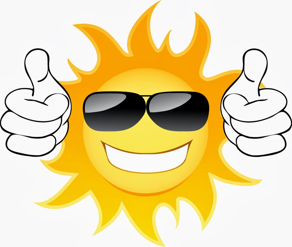 hight resolution of cute sun with sunglasses clipart