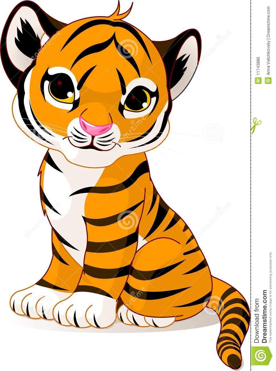 hight resolution of cute tiger face clip art