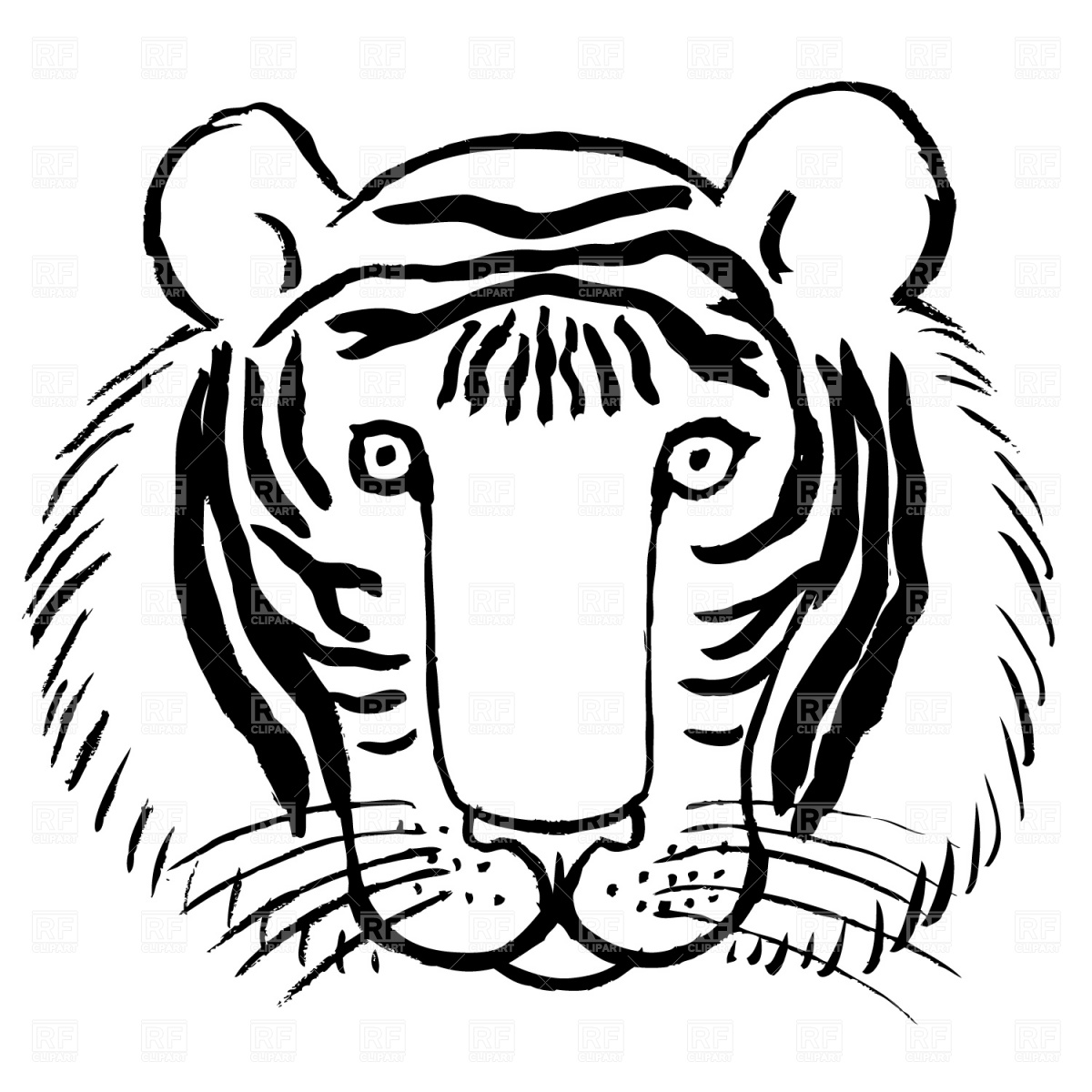 Baby Tiger Face Clip Art Clipart Panda