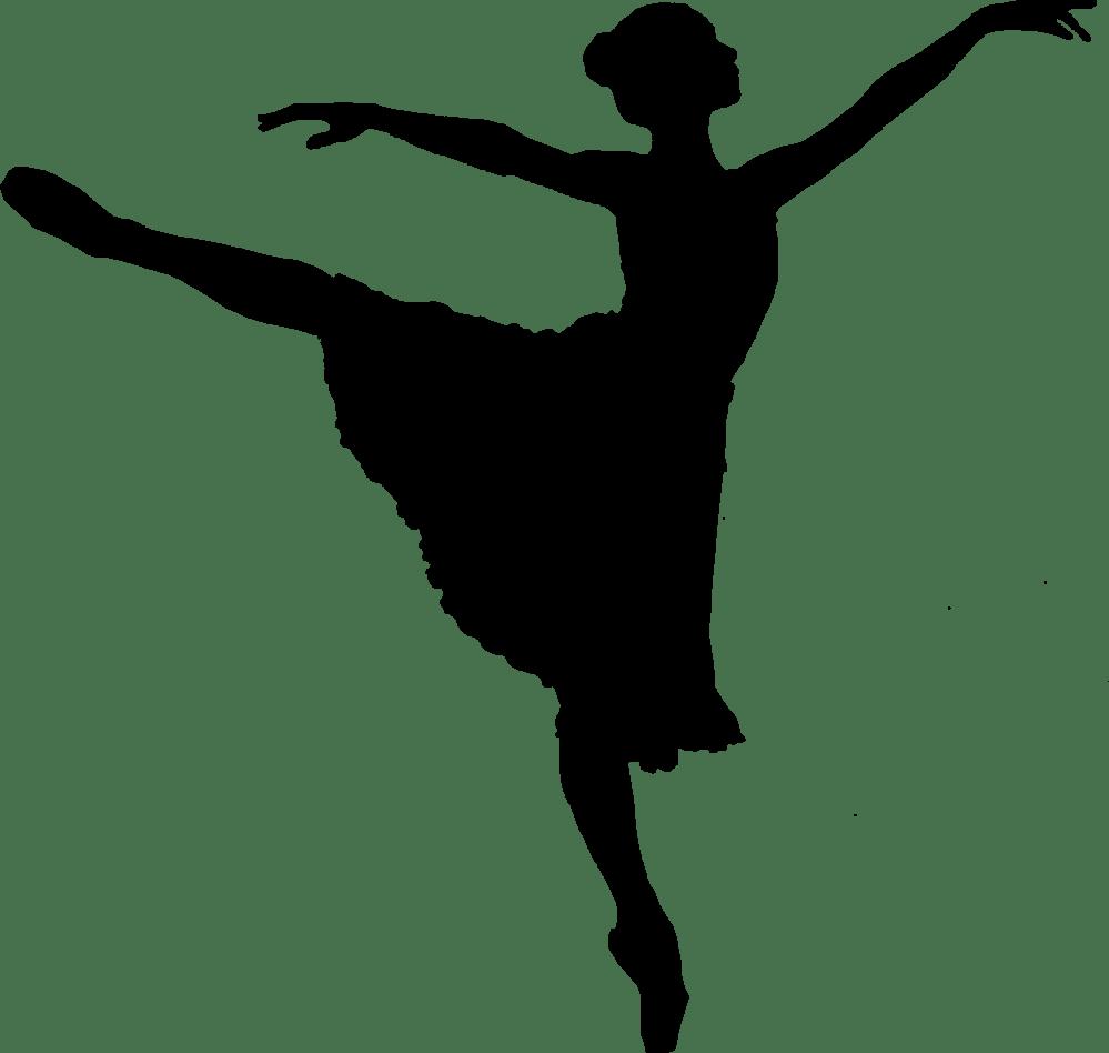 medium resolution of dancer jumping silhouette