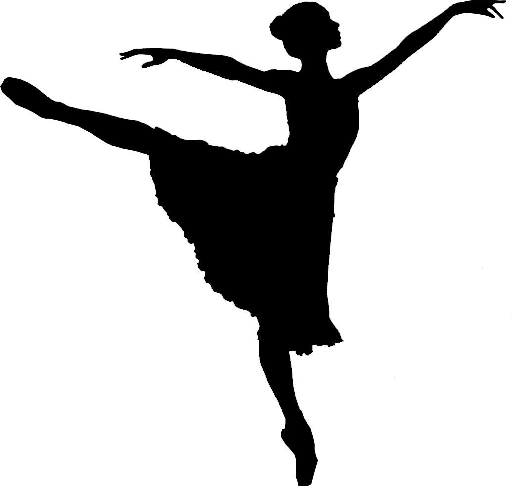hight resolution of dancer jumping silhouette